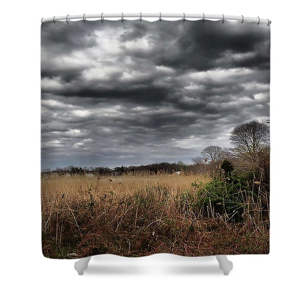 Dramatic Landscape Shower Curtain