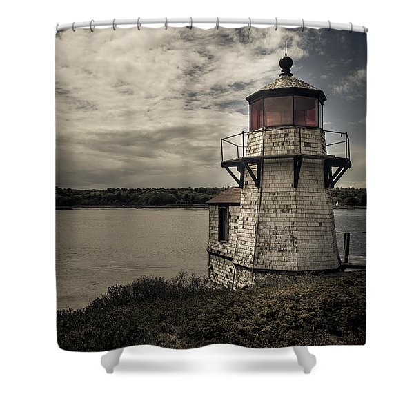Dramatic Mid-day Shot Of Squirrel Point Shower Curtain
