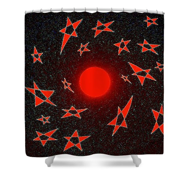 Dramatic Radiation  Shower Curtain