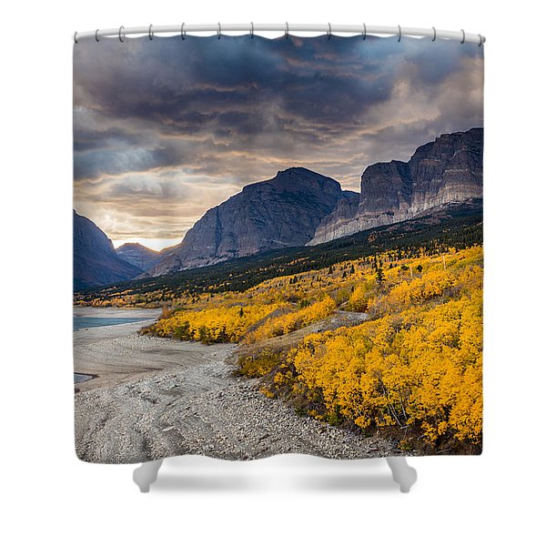 Dramatic Sunset Sky In Autumn  Shower Curtain
