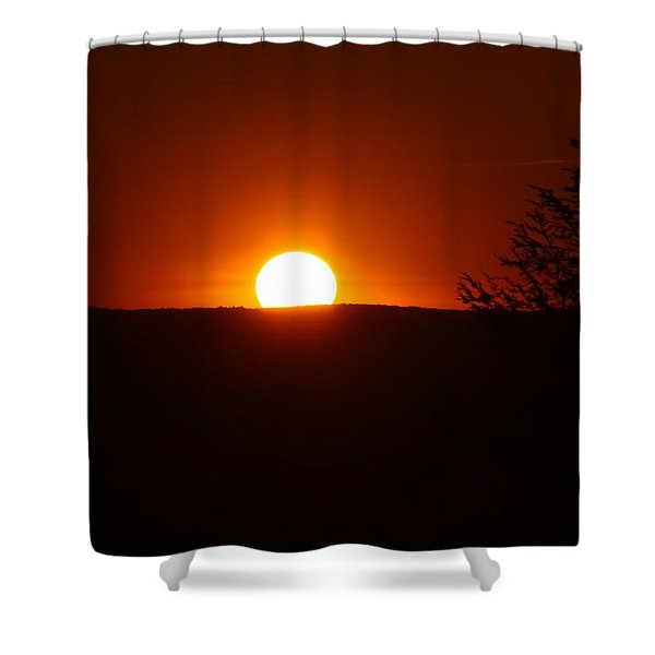 Dramatic Sunset View From Mount Tom Shower Curtain