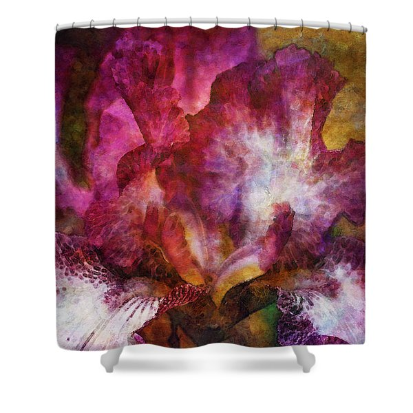 Dramatic White And Purple 0273 Idp_2 Shower Curtain