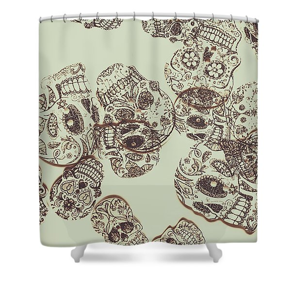 Drawn Out Nightmares Shower Curtain