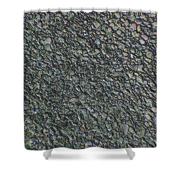 Drawn Pebbles Shower Curtain