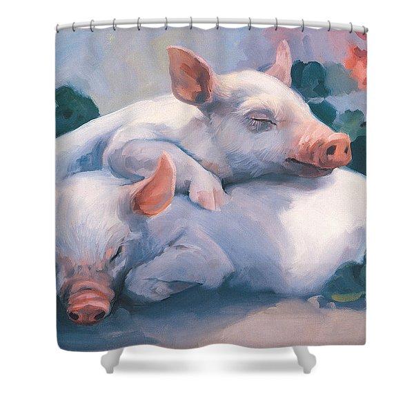 Dream Away Piglets Shower Curtain