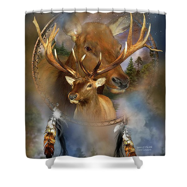 Dream Catcher - Spirit Of The Elk Shower Curtain