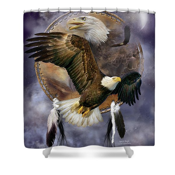 Dream Catcher - Spirit Eagle Shower Curtain