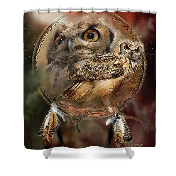 Dream Catcher - Spirit Of The Owl Shower Curtain