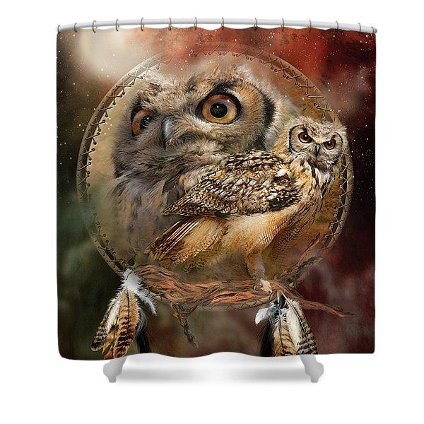 Dream Catcher - Spirit Of The Owl Shower Curtain