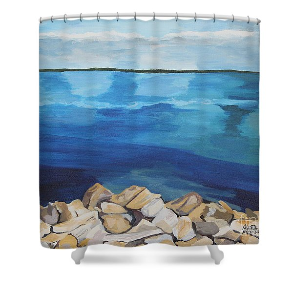 Dream Lake Shower Curtain