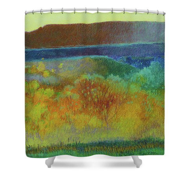 Shower Curtain featuring the painting Dream Of Dakota West by Cris Fulton