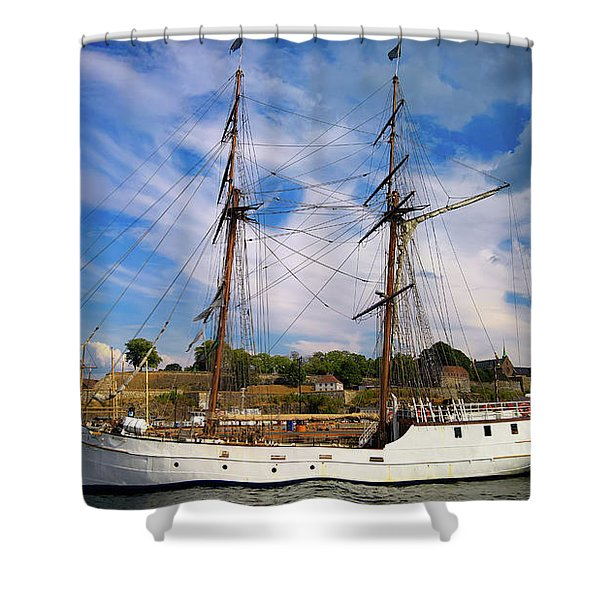 Dream On The Fjord Shower Curtain