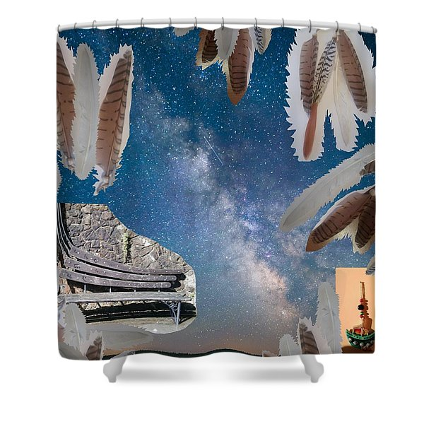 Dreaming Bench Shower Curtain