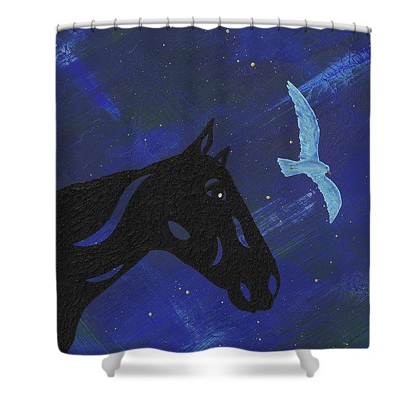 Dreaming Horse Shower Curtain