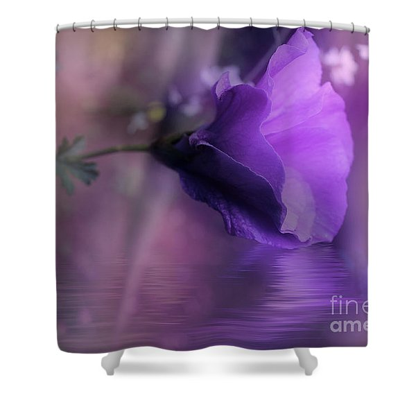Dreaming In Purple Shower Curtain