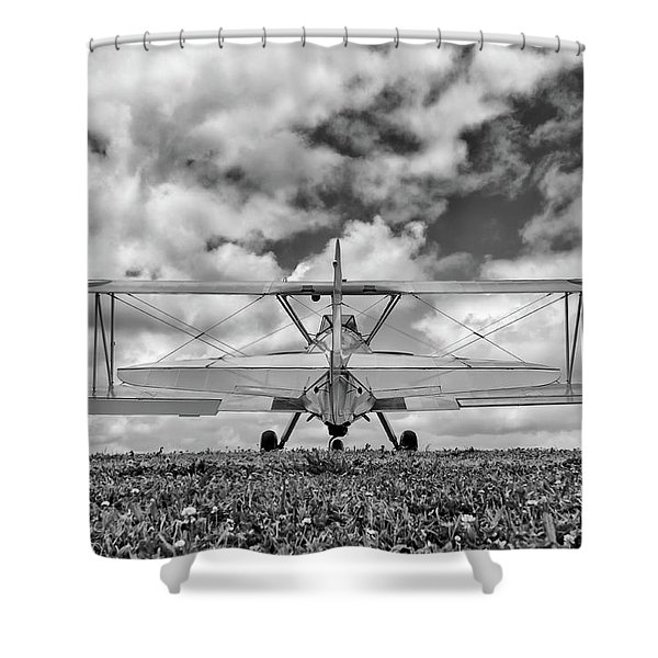 Dreaming Of Flight, In Black And White Shower Curtain
