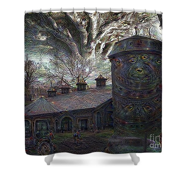 Dreaming Silent Screaming Shower Curtain