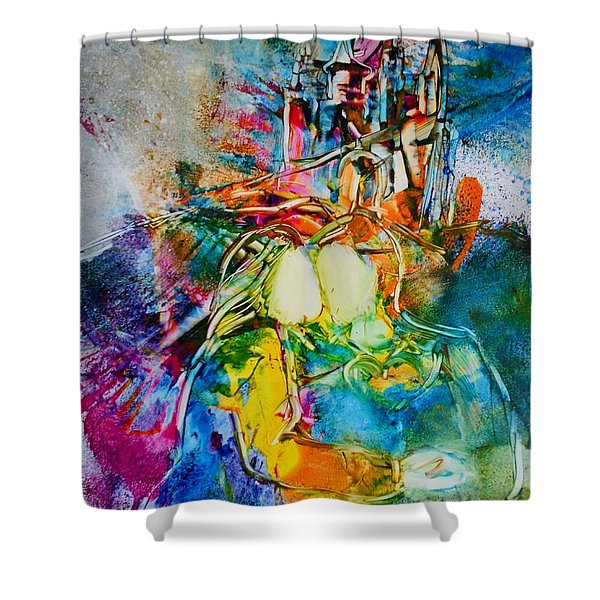 Shower Curtain featuring the painting Dreams Do Come True by Deborah Nell