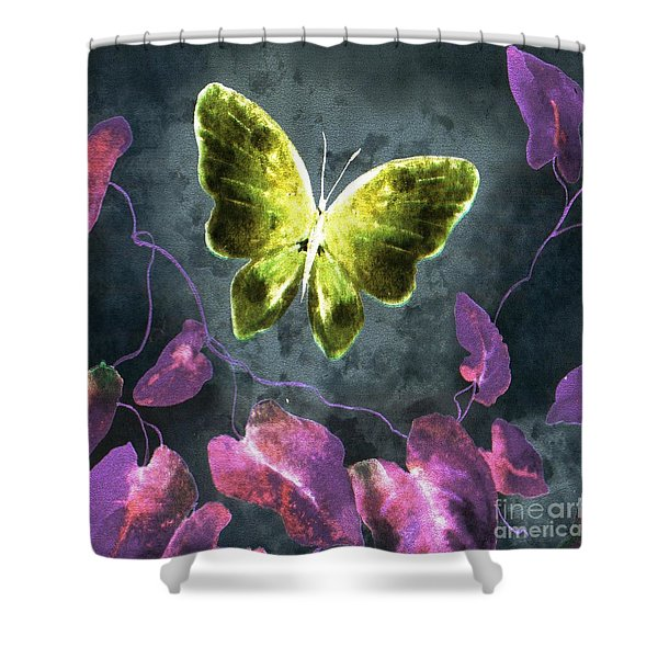 Shower Curtain featuring the digital art Dreams Of Butterflies by Writermore Arts