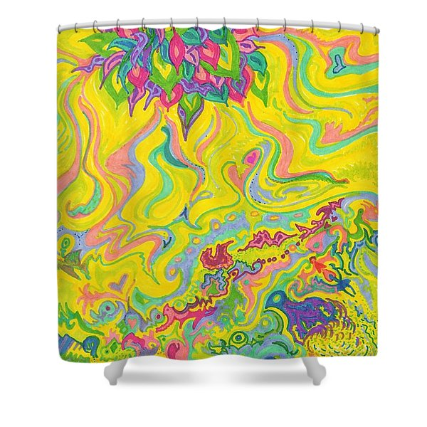 Dreamscaped Swamp-garden 1 Shower Curtain