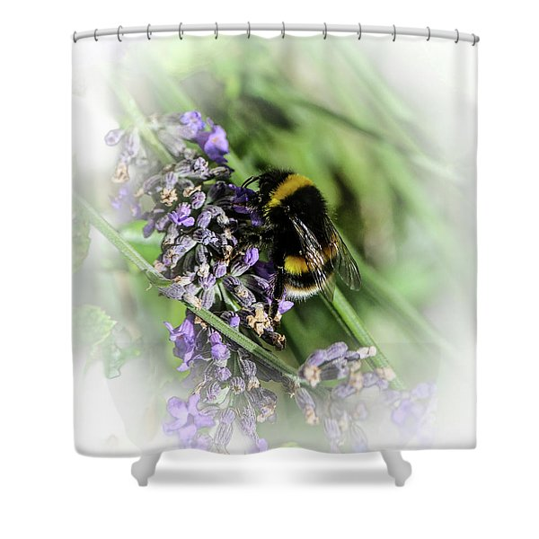 Dreamy Bumble Bee Shower Curtain