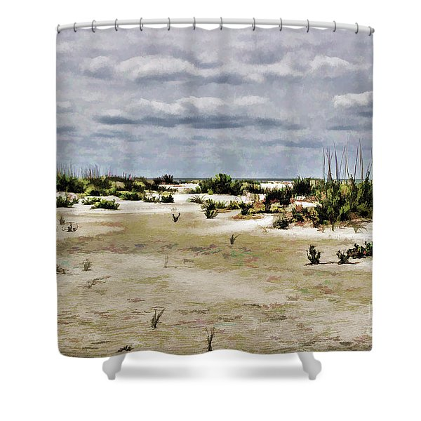 Dreamy Sand Dunes Shower Curtain