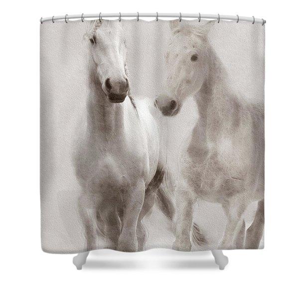 Dreamy Horses Shower Curtain