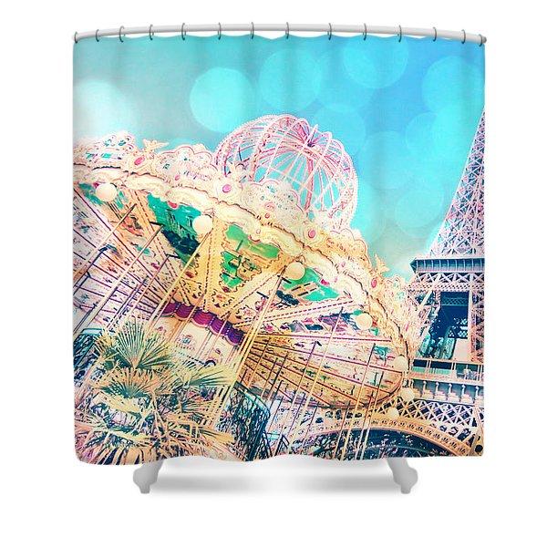 Dreamy Pastel Carousel Shower Curtain