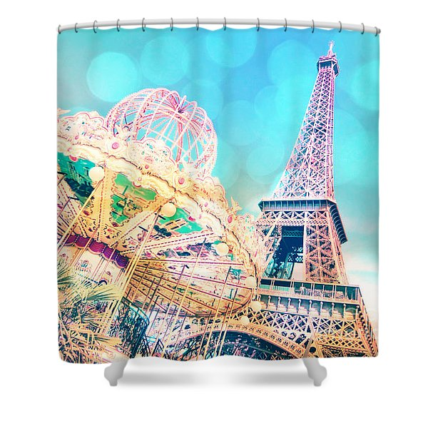 Dreamy Pastel Carousel Shower Curtain