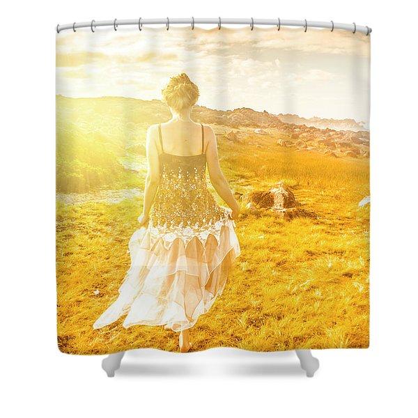 Dreamy Summer Fields Shower Curtain