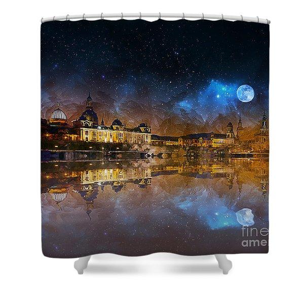 Dresden At Night Shower Curtain