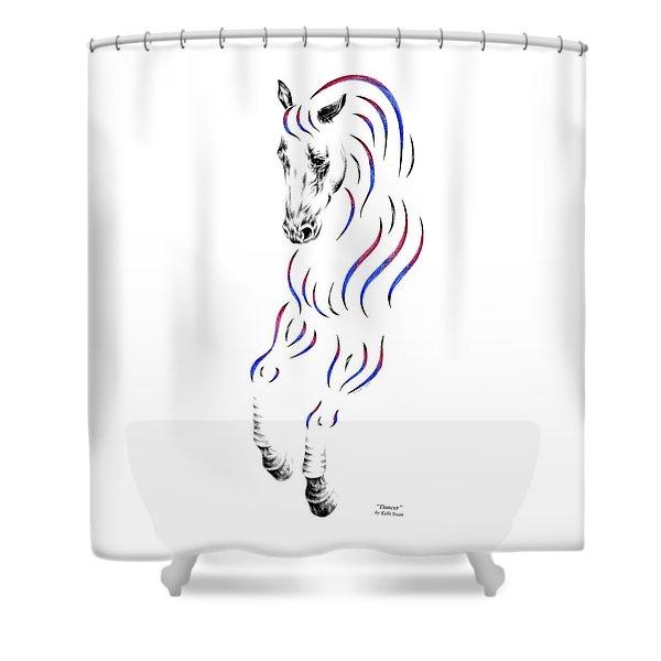 Dressage Horse Dancer Print Shower Curtain