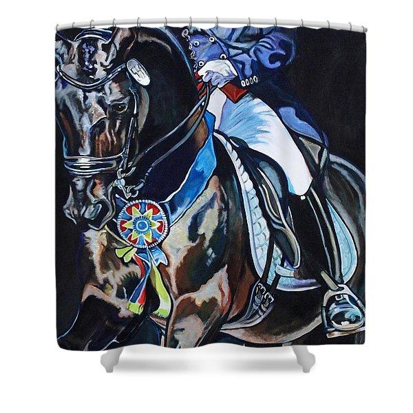 Dressage Stallion Shower Curtain