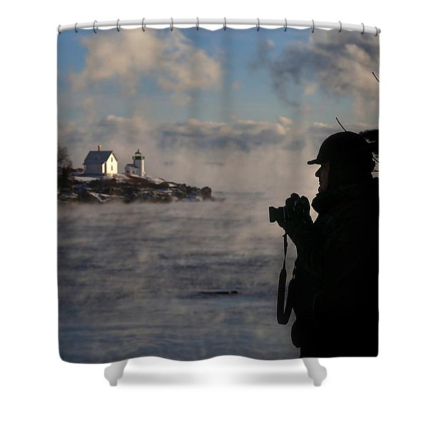 Dressed For Sea Smoke Shower Curtain