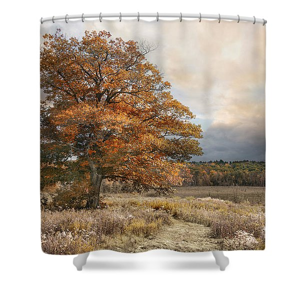 Dressed In Autumn Shower Curtain