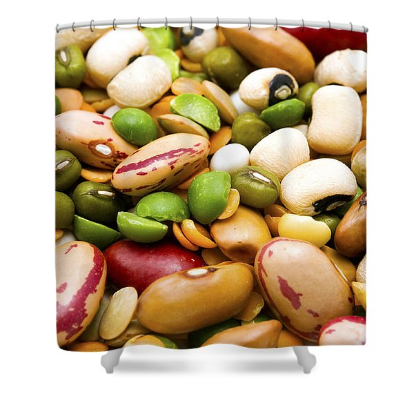 Dried Legumes And Cereals Shower Curtain