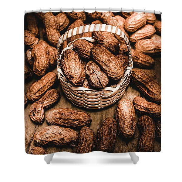Dried Whole Peanuts In Their Seedpods Shower Curtain