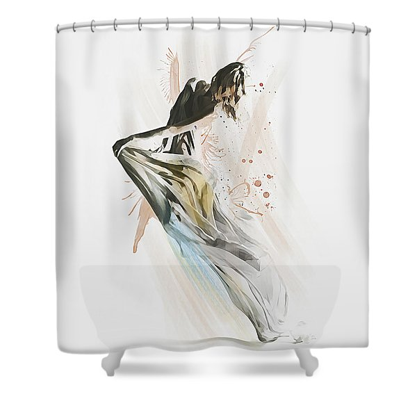 Drift Contemporary Dance Shower Curtain