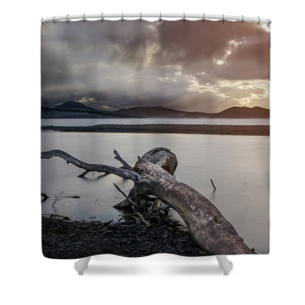Driftwood At The End Of The World Shower Curtain