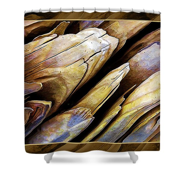 Driftwood Edges Shower Curtain