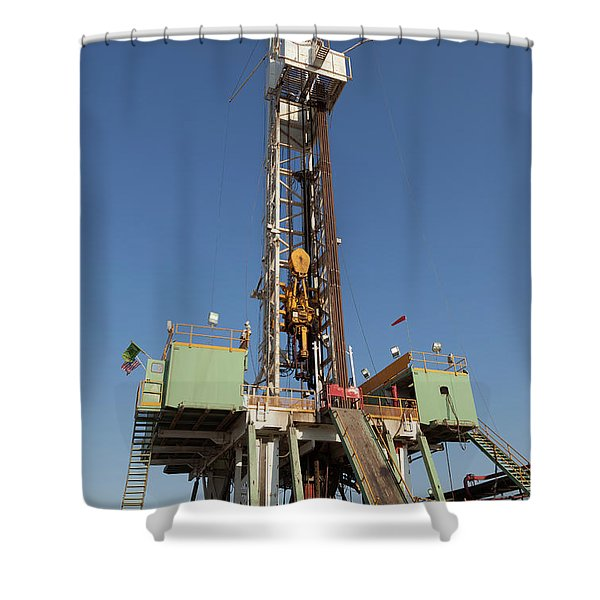 Drilling Ahead Shower Curtain