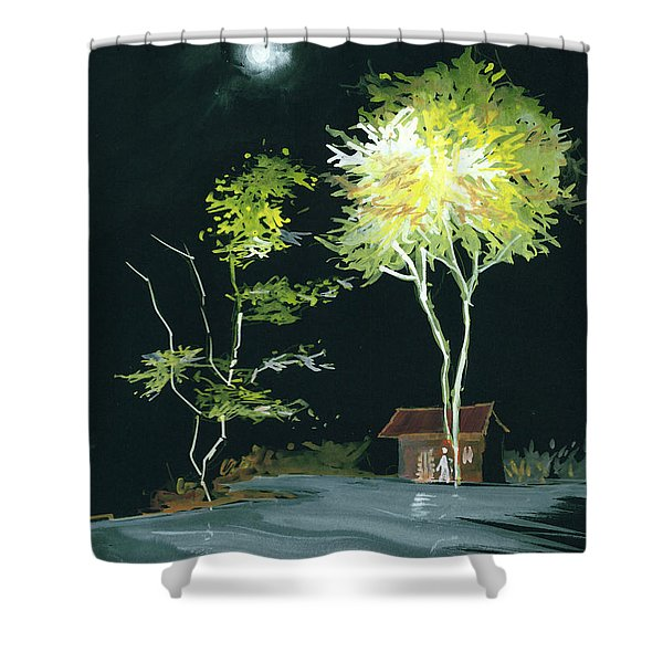 Drive Inn Shower Curtain