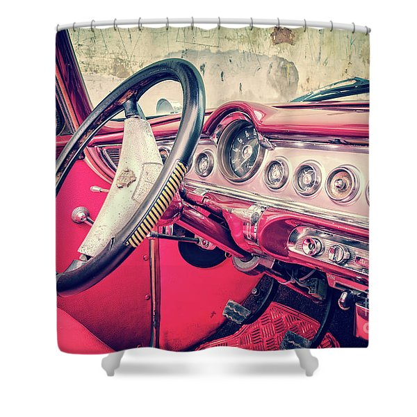 Driving In Havana Shower Curtain