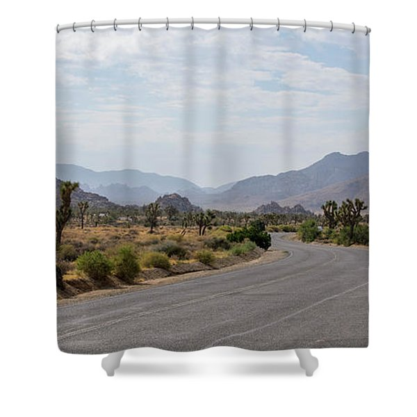 Driving Through Joshua Tree National Park Shower Curtain