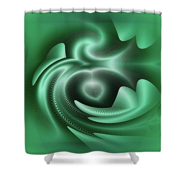 Shower Curtain featuring the digital art Drone by Visual Artist Frank Bonilla