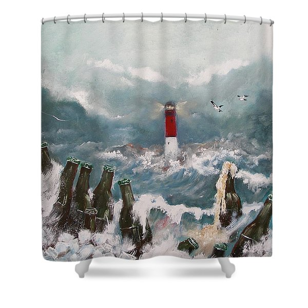 Drown In Alcohol Shower Curtain