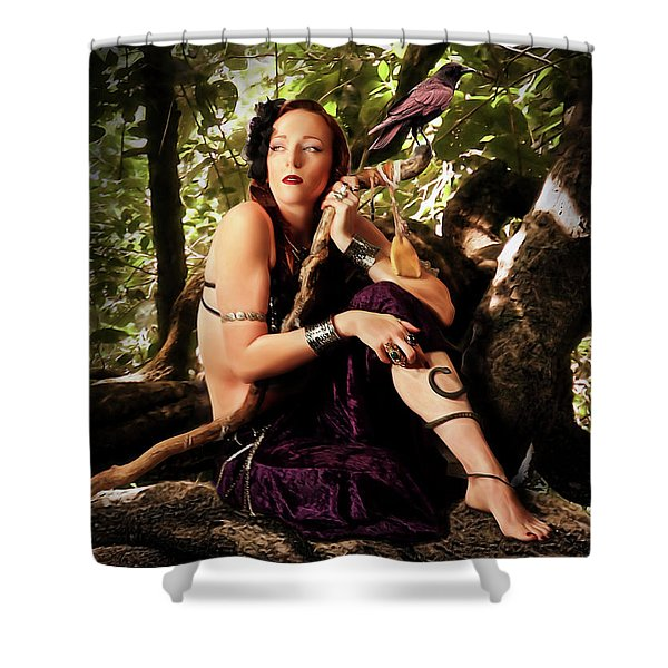 Druid In The Wood Shower Curtain