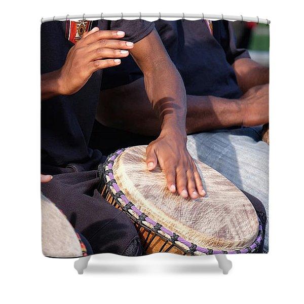 Drum Rhythm Shower Curtain