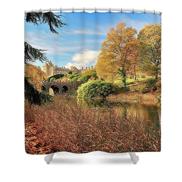 Drummond Castle Gardens Shower Curtain