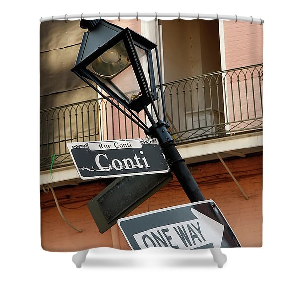 Drunk Street Sign French Quarter Shower Curtain